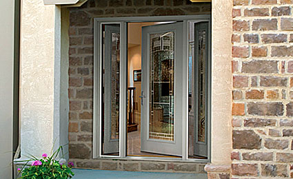 entry door with vented sidelites in maryland & MD Replacement Exterior Entry Doors Maryland | Fiberglass Front Door ...